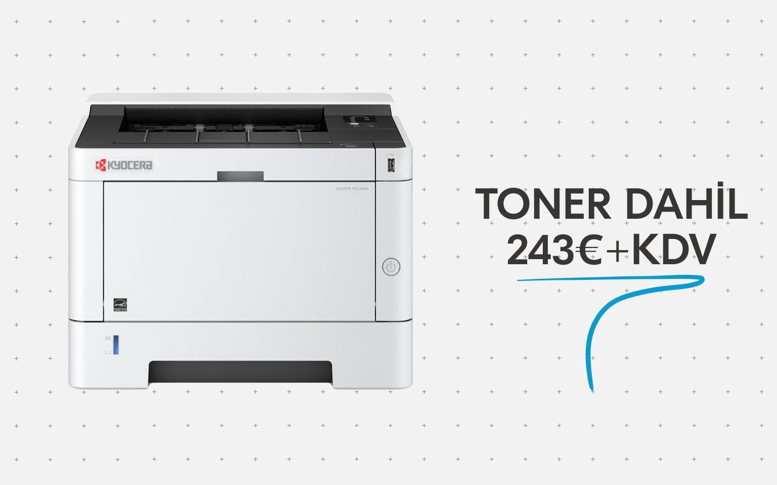 Uygun fiyatlı yazıcı P2235dn